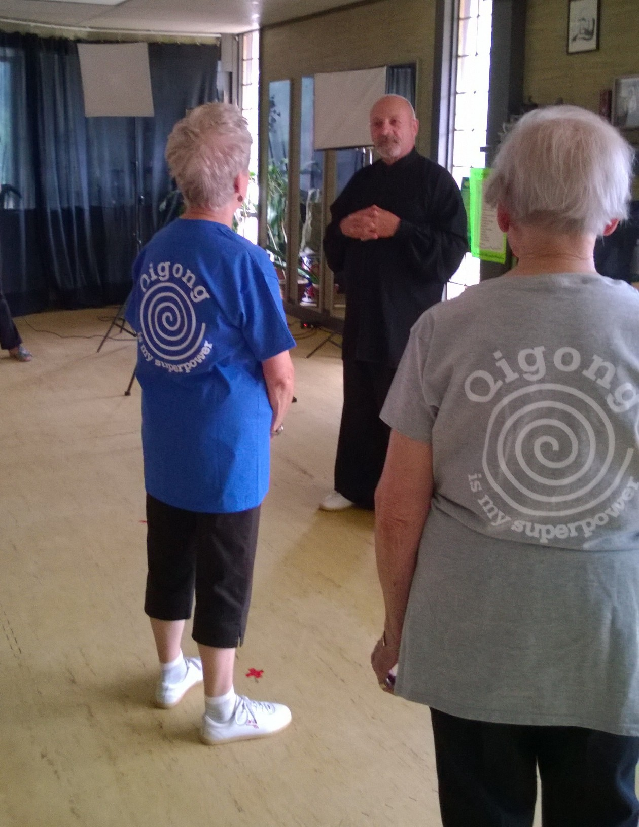 Sifu George Picard leading the group.