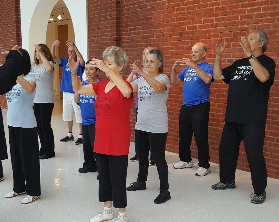 Group Qigong demonstration.
